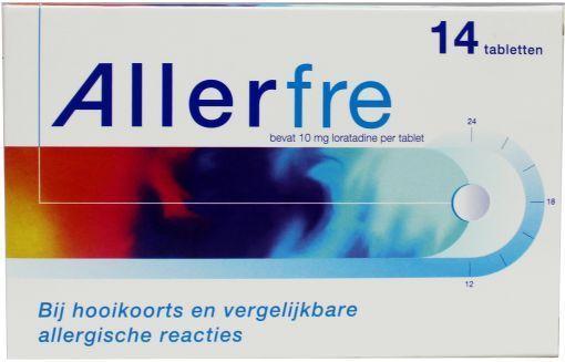 Allerfre 10mg 14 tabletten