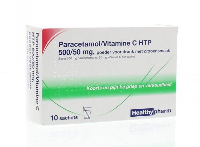 Paracetamol & vit C 10 sachets Healthypharm