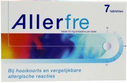 Allerfre 10mg 7 tabletten