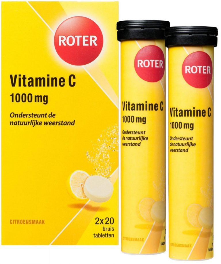 Vitamine C 1000 mg citroen duo 2x20 bruistabletten 40 bruistabletten Roter