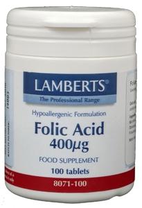 Vitamine B11 400 mcg (foliumzuur) 100 tabletten Lamberts