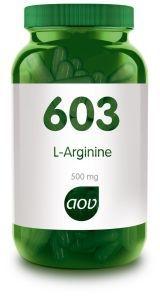 603 L-Arginine 500 mg 90 vegicapsules AOV