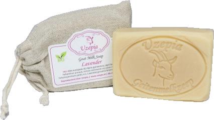 Goat milk Soap Lavendel 80 gram Uzepia