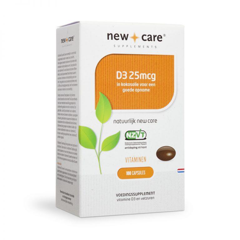D3 25mcg 100 capsules New Care