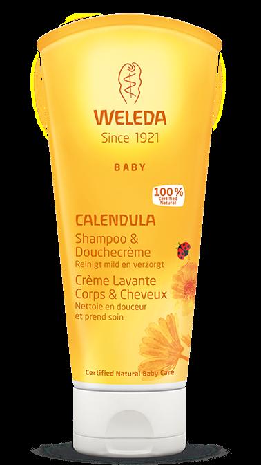 Calendula baby haar en bodyshampoo 200 ml Weleda