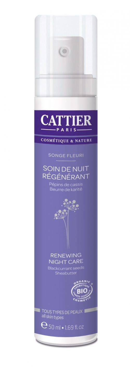 Nachtcrème songe fleuri 50 ml Cattier