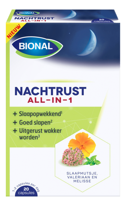 Nachtrust all in 1 20 capsules Bional