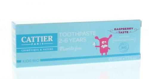 Tandpasta framboos 2-6 jaar 50 ml Cattier