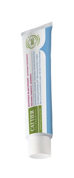 Tandpasta whitening frisse adem 75 ml Cattier