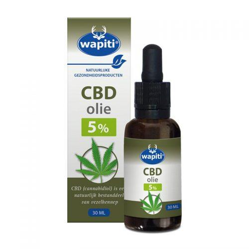 CBD Olie 5% 30 ml Wapiti