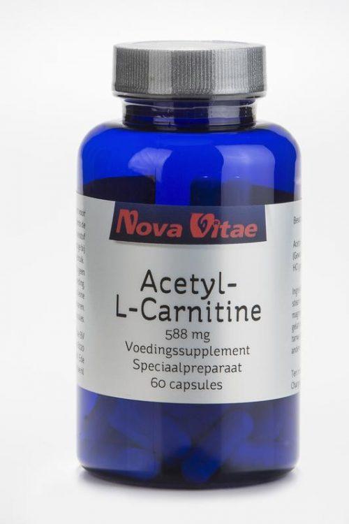 Acetyl l carnitine 588 mg 60 capsules Nova Vitae