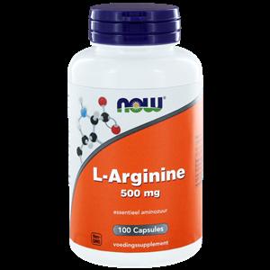 L-Arginine 500 mg 100 capsules NOW