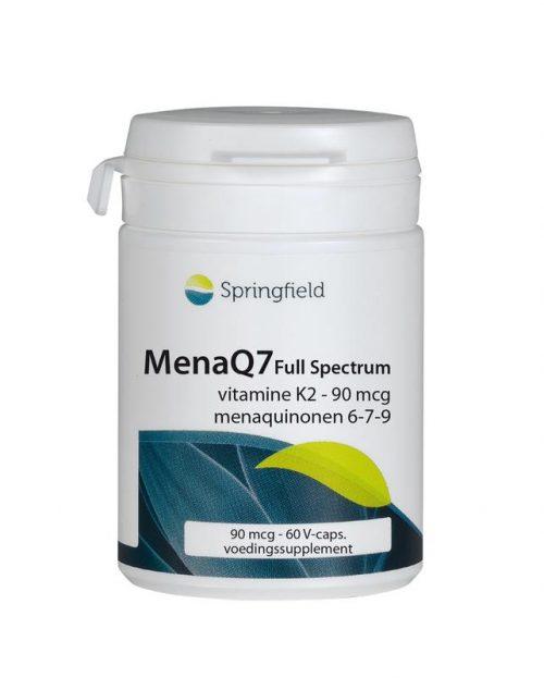 MenaQ7 Full Spectrum vitamine K2 90 mcg 60 vegi-caps Springfield