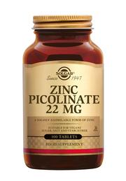 Zinc picolinate 22mg 100 tabletten Solgar