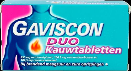 Gaviscon Duo 24 kauwtabletten