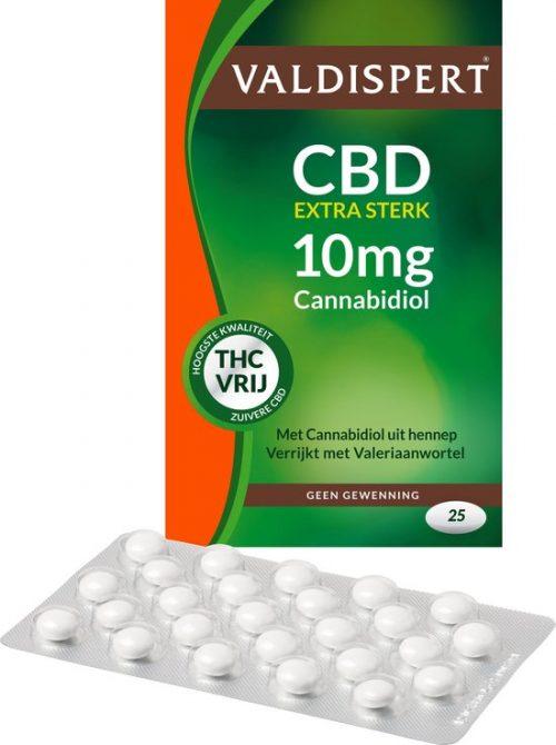 Valdispert CBD 10 mg 25 tabletten Valdispert