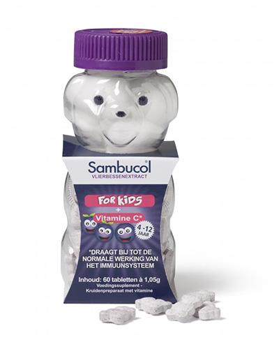 Sambucol kids + vit C 60 kauwtabletten TS