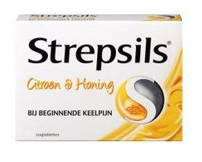 Strepsils Citroen & Honing 24 stuks