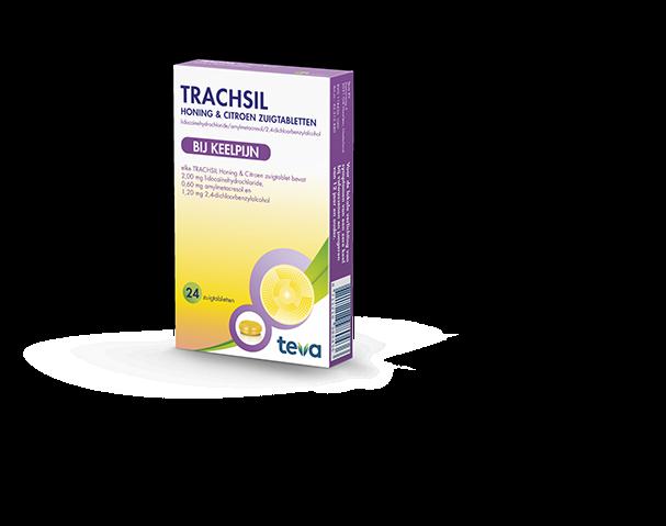 Trachsil honing & citroen 24 zuigtabletten Teva