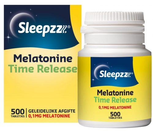 Melatonine Time Release 0.1 mg 500 tabetten Sleepzz