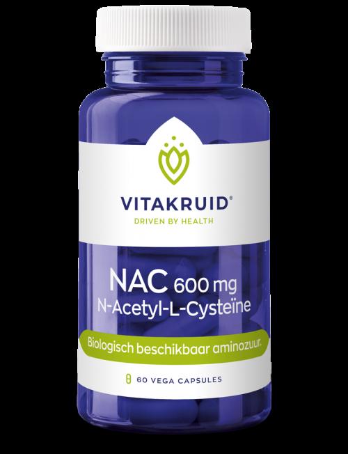 NAC 600 mg N-Acetyl-L-Cysteine 60 vegi-capsules Vitakruid