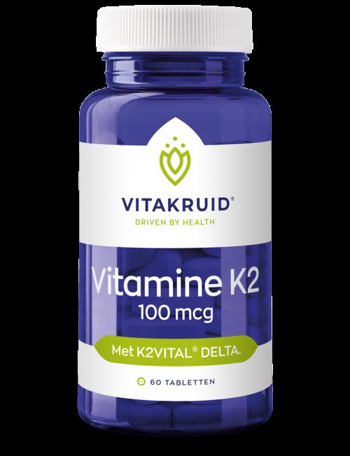 Vitamine K2 100 mcg 60 tabletten Vitakruid