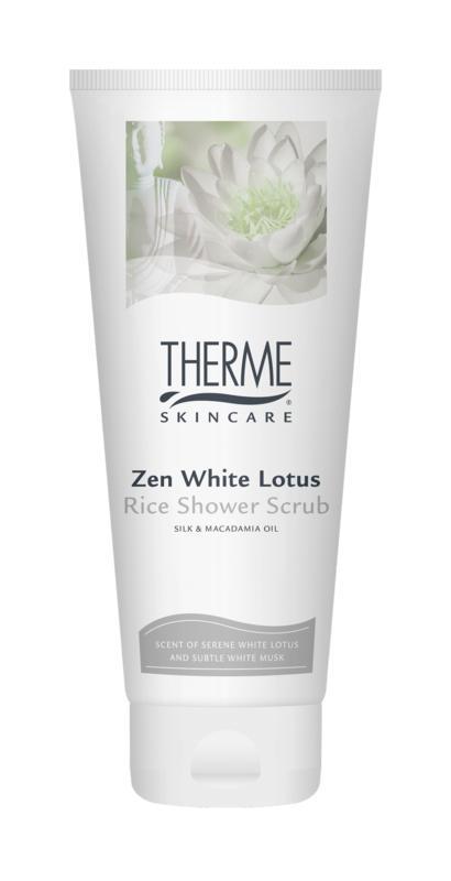 Zen white lotus scrub rice 200 ml Therme