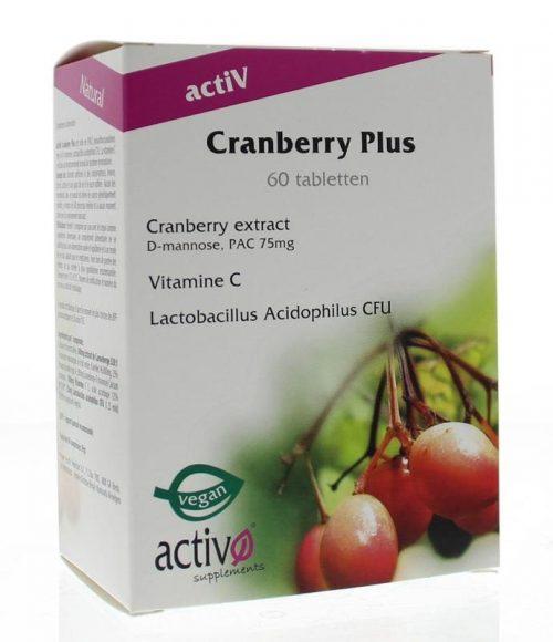 Cranberry plus 60 tabletten Activo