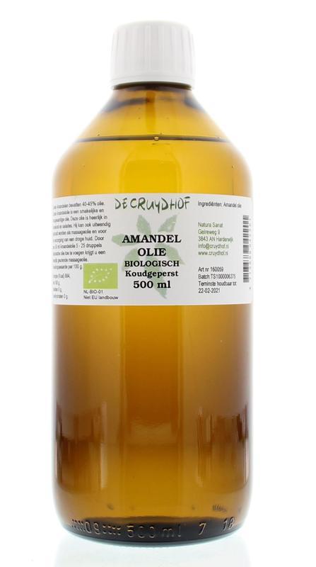 Amandelolie koudgeperst bio 500 ml Cruydhof