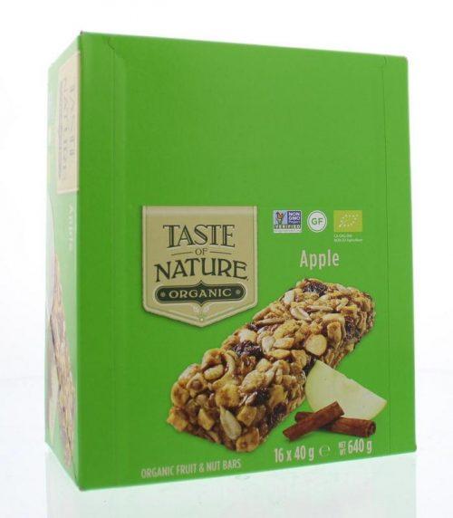 Apple granenrepen 16x40 gram Taste Of Nature