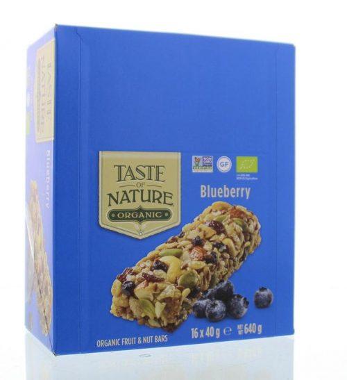 Blueberry granenrepen 16x40 gram Taste Of Nature