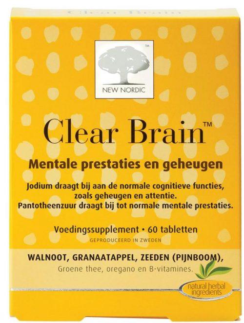 Clear brain 60 tabletten New Nordic