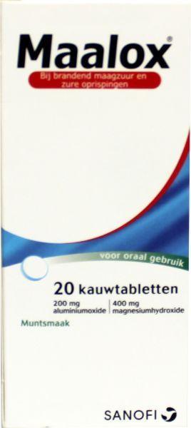 Maalox 20 kauwtabletten