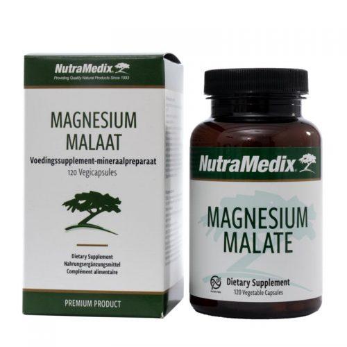Magnesium malaat 120 vegi capsules Nutramedix