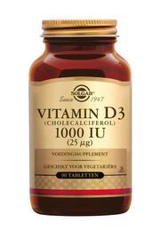 Vitamine D3 1000iu/75 mcg (geen visolie) 180 tabletten Solgar