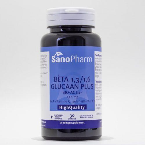 Betaglucaan plus 250 mg 30 stuks Sanopharm