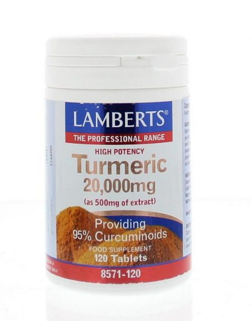Curcuma 20.000 mg (turmeric) 120 tabletten Lamberts