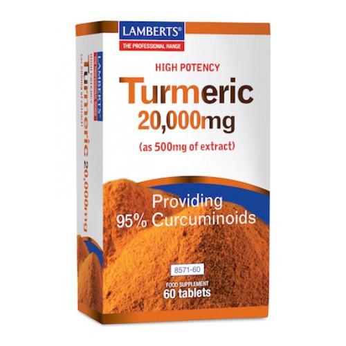 Curcuma 20.000 mg (turmeric) 60 tabletten Lamberts