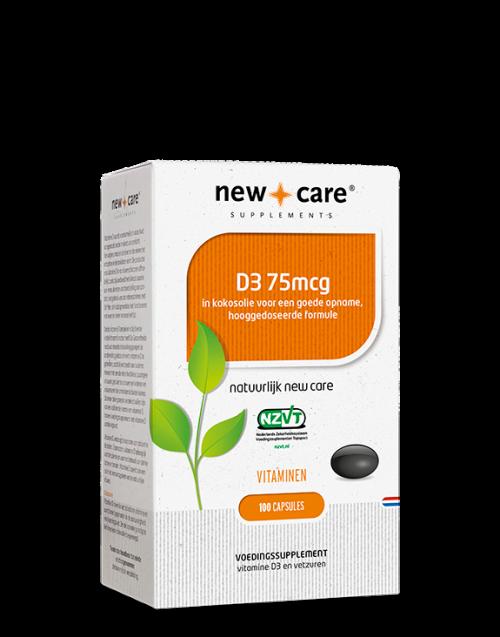 D3 75mcg 100 capsules New Care
