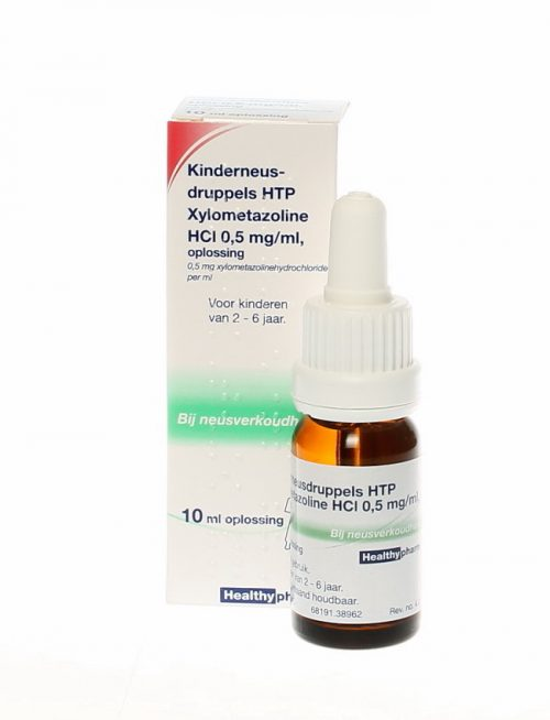 Kinder neusdruppels 0,5 xylometazol 10 ml Healthypharm
