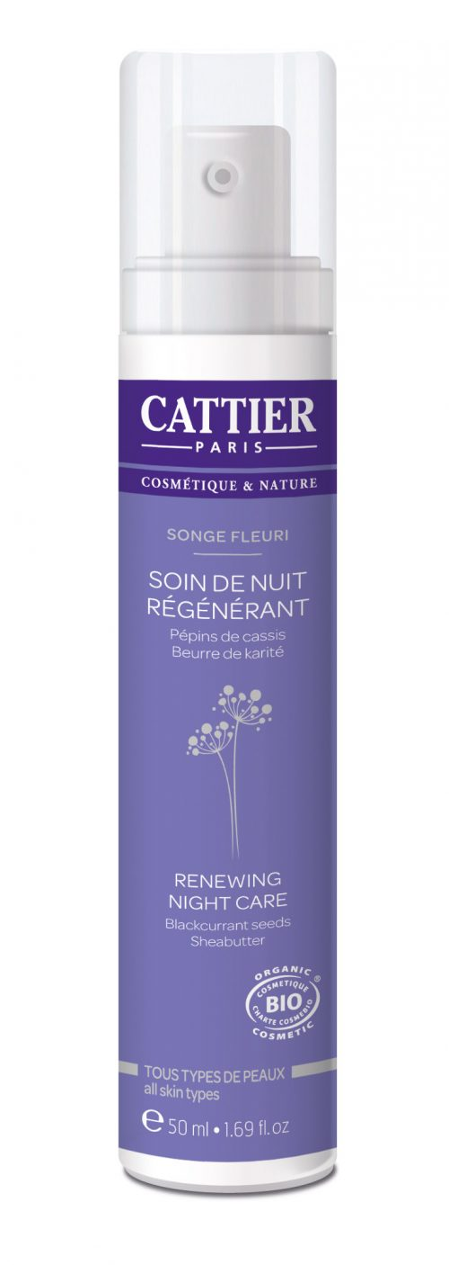 Nachtcreme kalmerend gevoelige huid 50 ml Cattier