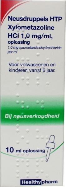 Neusdruppels xylometazoline 10 ml Hp