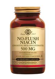 No-Flush Niacin 500 mg 50 stuks Solgar