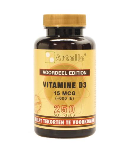 Vitamine D 15mcg 600ie 250 capsules Artelle