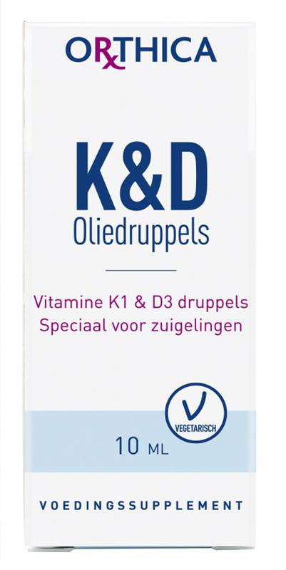 Vitamine K & D zuigeling 10 ml Orthica