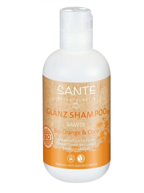 Familie bio sinaasappel kokos shampoo BDIH 200 ml Sante