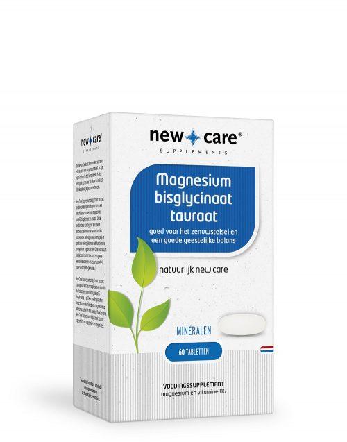 Magnesium bisglycinaat tauraat 60 capsules New Care