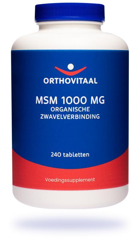 MSM 1000 mg 60 tabletten Orthovitaal