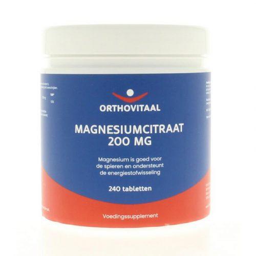 Magnesium citraat 200 mg 240 capsules Orthovitaal