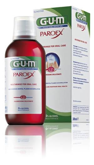 Paroex mondspoelmiddel 0,12% chlorhexidine 300 ml Gum